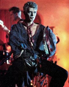 David promo photo for the music video, Blue Jean in 1984.