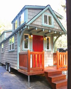 A craftsman bungalow style tiny house from California-based builder, Molecule Tiny Homes LLC.