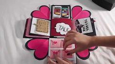 DIY - Handmade gift for boyfriend (Explosion box)