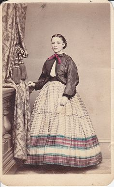 A hand tinted 1860s CDV of Pretty Lady by T. M. Reger of Philadelphia
