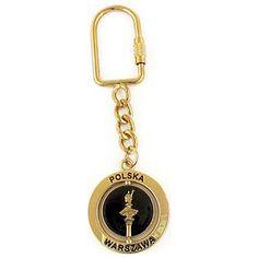 Revolving keychain - Column of Zygmunt (gold). Keychain revolving column of Zygmunt metal pendant, with a revolving center. Keychains, Pendants, Personalized Items, Metal, Gold, Key Hangers, Key Rings, Key Pendant, Pendant