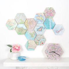 Map Hexagon Collectable Wall Art