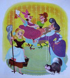 Me and the Meanies  Concept Art for Cinderella Mary Blair, Walt Disney, Disney Love, Disney Magic, Cinderella Book, Disney Princess Cinderella, Cinderella Bedroom, Cinderella Cartoon, Disney Princesses