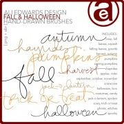 Ali Edwards Fall and Halloween Hand Drawn Brushes