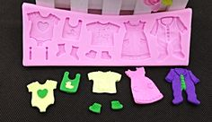 Baby Clothes Washing Line - Silicone Mold #BabyClothesSiliconeMold http://www.itacakes.com/product/baby-clothes-washing-line-silicone-mold/