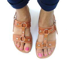 Greek Leather Sandal Sandales Grecques Strappy Sandals