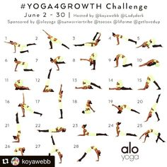 Alright I've missed my #instayoga challenges. Time to jump back in. Who's with me? #Repost @koyawebb (via @repostapp) Join US!!!! We want YOU!!! We have another #Yoga4Growth challenge coming for you June 2nd-30th with @ladydork and I. Tag your Friends and Repost this Graphic ------ We would like to continue helping you with your yoga journey. We will focus on working up to 4 of your favorite poses: Week 1: #Bakasana aka #CrowPose Week 2: #Karnapidasana aka #EarPressurePose Week 3: #P...