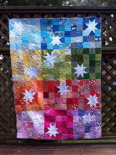 Rainbow stars for do. Good Stitches by kldemare, via Flickr