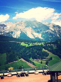 Blick auf den Dachstein vom Hotel Gut Raunerhof