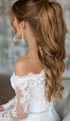 Beautiful bride ponytail style - LadyStyle