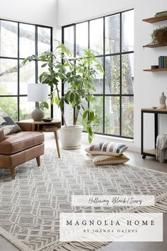 The rug highlights the neutrals in our world and it is full of texture details and a gorgeous fringe finish. Rugs In Living Room, Home And Living, Living Room Furniture, Living Room Designs, Living Spaces, Living Room Plants Decor, Living Room Windows, Small Living, Cozy Living