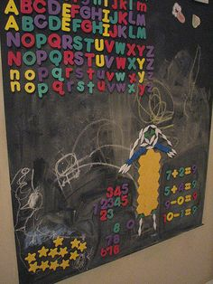 For kids display area - magnetic chalkboard wall, how-to