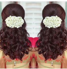 Super Ideas For Wedding Hairstyles Chignon Elegant Bun Bridal Hair Buns, Bridal Hairdo, Indian Bridal Hairstyles, Wedding Hairstyles, Hairstyles Haircuts, Trendy Hairstyles, Hairdos, Saree Hairstyles, Traditional Hairstyle