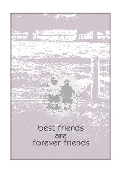 Printables Wall Art by MackiesPrintables on Etsy.  Friendships that start in childhood will last a lifetime.