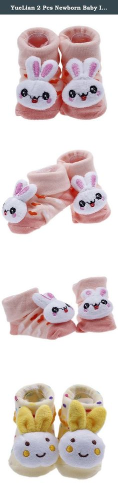 YueLian 2 Pcs Newborn Baby Indoor Socks Rabbit Booties 2.7''. Material: Knit Package: 2 Pairs of Baby Sock Sock Length: 2.7'' Notes: 1. Color: Due to lighting effects, monitor's brightness / contrast settings etc, there could be some slight differences in the color tone of the pictures! 2. Size: Manual measuring, please allow 1-2cm error. .