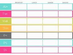 Diet Plan Template - Plus belle la vie (PBLV)