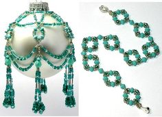 Free Beaded Victorian Ornaments Patterns | as patterns or individual kits! Boxed gift sets offered with free ...