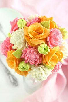 Bridal Bouquet Cake | Sprinkle Bakes