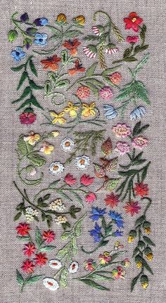 Small wildflowers embroidery