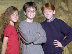 Emma watson, Daniel radcliffe, and Rupert grint at like...10?