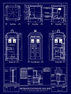 """Doctor who TARDIS design "" Stickers by Katie358 