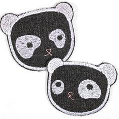 Süße Pandas als Bügelbilder