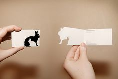 Simple, yet clever die-cut business cards from laumette on flickr