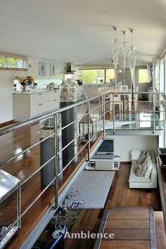 floating home france interior- convert a barge into a home on the water---in London