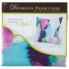 "18"" x 18"" Watercolor Pillow Cover"