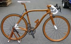 Handcrafted lightweight mahogany bicycle