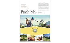 Golf Resort Flyer Design Template by StockLayouts