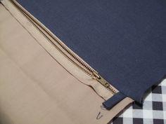 Eighteenth Century Agrarian Business: fold-over clutch, metal zipper