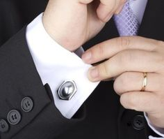 When attaching cuff links, make sure to check all of the way around the cuff to make sure that it's even