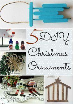 5 DIY Christmas Ornaments