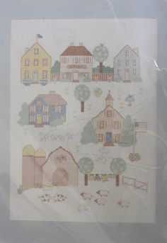 A Day in the Country Counted Cross Stitch Kit 05538 JCA Simplicity x for sale online Chart Design, Counted Cross Stitch Kits, Needlepoint, Counting, Picture Frames, Stamp, Day, Packaging, Things To Sell