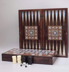 The Magic Star Backgammon Turkish Premium Board Game Set Wood Chess Board, Classic Board Games, Card Games, Decorative Boxes, Hacks, Magic, Chips Chips, Stars, Hack Tool