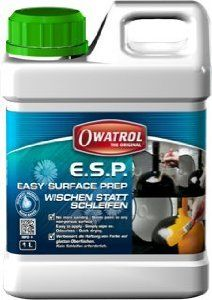 E.S.P. Easy Surface Prep - Amazon.com - Prepares smooth slick surfaces for painting or varnishing. Wipe on, wipe off and paint in 90 minutes. Works well over enamel paint, without having to sand. SAVES HOURS of work. It was recommended to me by a professional painter.