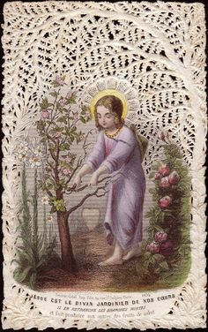 Religious Icons, Religious Art, Whatsoever Things Are Lovely, Catholic Pictures, Vintage Holy Cards, Religion Catolica, Catholic Art, Prayer Cards, Sacred Art