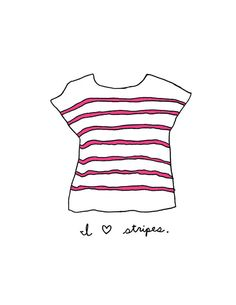 Uh-oh, @Ashley Fine, another striped tee work of art :)