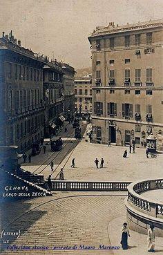 Genova, Largo della Zecca nel 1910 circa