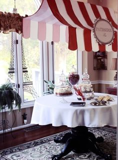 paris themed bridal shower