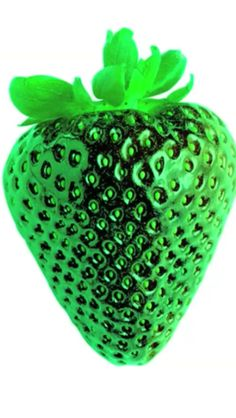 Metallic Strawberry on Green