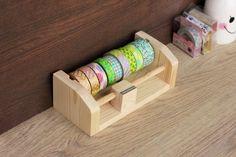 Washi Tape Dispenser by Kaluwoodcraft on Etsy                                                                                                                                                                                 More