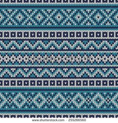 Fair Isle Seamless Pattern – Knitting patterns, knitting designs, knitting for beginners. Punto Fair Isle, Tejido Fair Isle, Motif Fair Isle, Fair Isle Chart, Fair Isle Pattern, Fair Isle Knitting Patterns, Sweater Knitting Patterns, Knitting Charts, Knitting Designs