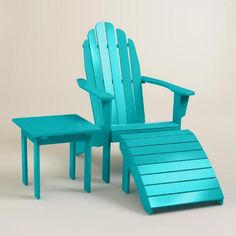 chair w/ side table & footstool option in multiple colors for front porch