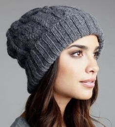 Eugenia Kim Jill Handknit Slouchy Beanie in Gray (one size) - Lyst Loom Knitting, Hand Knitting, Knitting Patterns, Slouchy Beanie, Beanie Hats, Knit Crochet, Crochet Hats, Beanie Pattern, Cute Hats