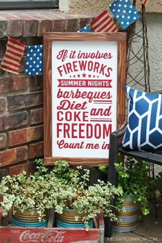 4th of July Sign