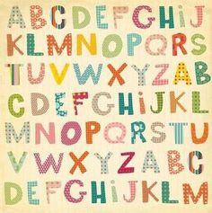 Abecedario multicolor para imprimir | Imagenes para imprimir.Dibujos para imprimir