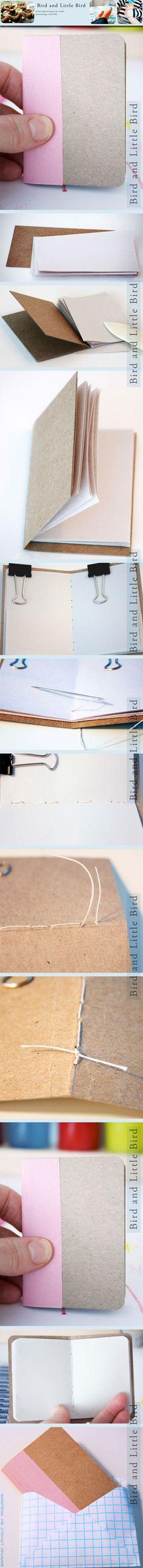 mini-book center stitched | mini libro cucito in centro | #DIY #tutorial #howtomake #faidate #comefarea