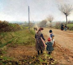 Children On A Country Road
